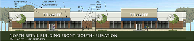 Oberlin Crossing South Elevation